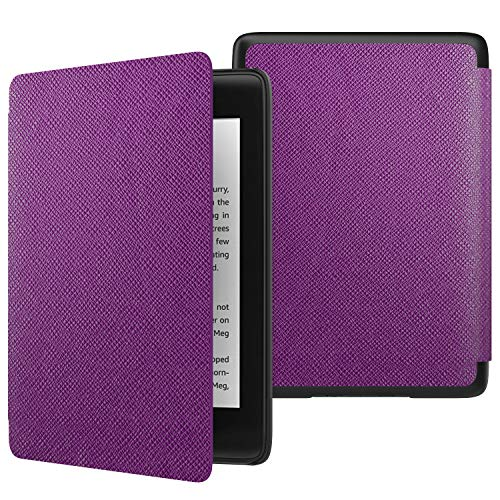 MoKo Case Fits Kindle Paperwhite (10th Generation, 2018 Releases), Thinnest Lightest Smart Shell Cover with Auto Wake/Sleep for Amazon Kindle Paperwhite 2018 E-reader - Purple