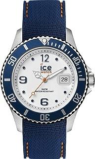 Ice steel Mens Analog Quartz Watch with Rubber bracelet IC016771