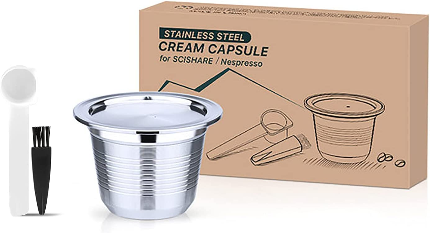 Stainless Steel Reusable Refillable Com Espresso Capsules Max 81% OFF Ranking TOP4 Coffee