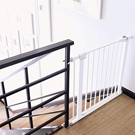 LELEGuardrail Walk Extra Wide Baby Pet Isolation Fence Barrier With Punch Free And Bidirectional Switch Safety Gates For Bottom Top Stairs Doorways Fence  Color High76 width  Size 159-166cm