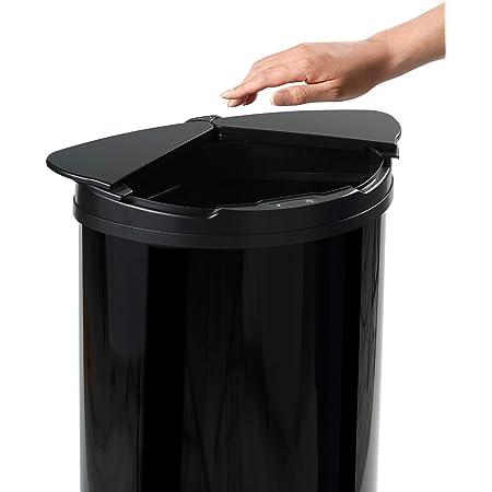 【センサー式 ゴミ箱】DiETZ (ディーツ) 自動開閉センサーゴミ箱 スライド式 自動 自動センサー 自動ゴミ箱 ダストボックス 47L 45Lゴミ袋対応 (コンプリートブラック)