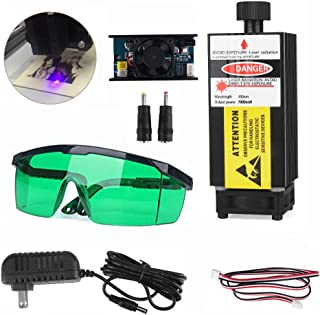 7000mW 445nm Blue Light Laser Module with Protective Glasses for CNC 3D Printer DIY Engraving Machine (7000mW )