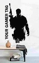 Video Game Sniper Personalised Gamer Tag Vinyl Sticker Decal Gun - Room Decor Wall Door (Large 37