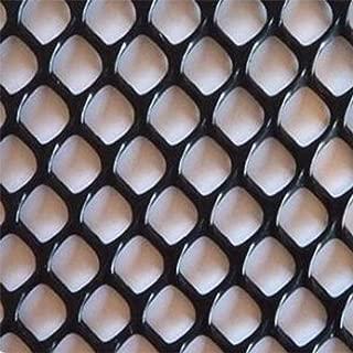 TORIS Plastic Chicken Wire Mesh Hexagonal Plastic Poultry Netting Extruded Plastic Chicken Wire Fence PVC Coated Plastic Poultry Netting (0.4m4m=1.3ftX13.1ft, Black)