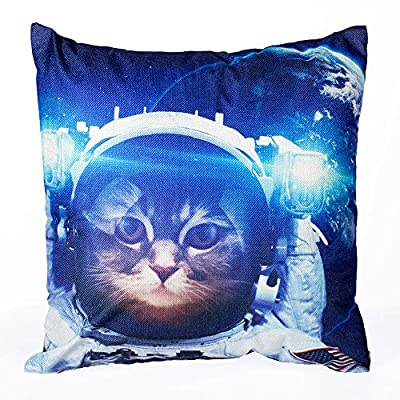 Longshengv Decorative Throw Pillow Covers Running Horse Couch Pillows Cover 18 x 18 Inch