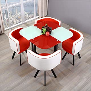 Amazon Com Kitchen Dining Room Sets Red Table Chair Sets Kitchen Dining Room Fu Home Kitchen