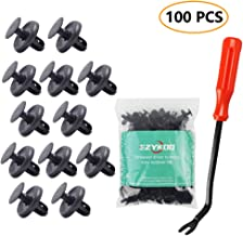 EZYKOO 100pcs Car Rivets,Nylon Bumper Compatible with Lexus Toyota Body Clips,Splash Shield Clips 90467-07201 Replacement Fasteners, Quality Push Fasteners with Bonus Fastener Remover