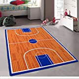 Pro Rugs Kids Basketball Court Sports Area Rug for Playroom & Nursery - Non Skid Gel Backing (8 Feet X 10 Feet)