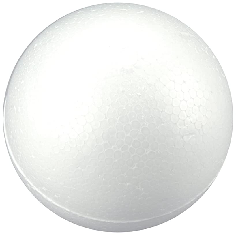 Smoothfoam 2-Pack Balls Crafts Foam for Modeling, 4-Inch, White