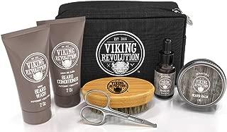 Beard Care Kit for Men Gift - Beard Grooming Kit Contains Travel Size Beard Oil, Beard Balm, Beard Shampoo & Conditioner, Beard Brush and Grooming Scissors - Includes Travel Case (Original)