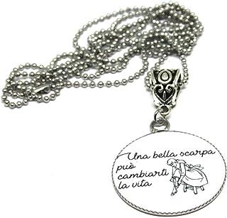 Collana CENERENTOLA - Collana Frase - Collana Lunga - Collana acciaio - Personalizzabile