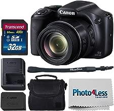 Canon SX530 HS PowerShot Digital Camera w/ 50x Optical Zoom & Built-in Wi-Fi (Black) + 32GB SDHC Memory Card Premium + Camera Case (Black) + Small Camera/Video Case + Photo4Less Cleaning Cloth