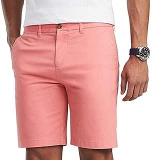 Mens Flat Front Khakis Chinos Shorts
