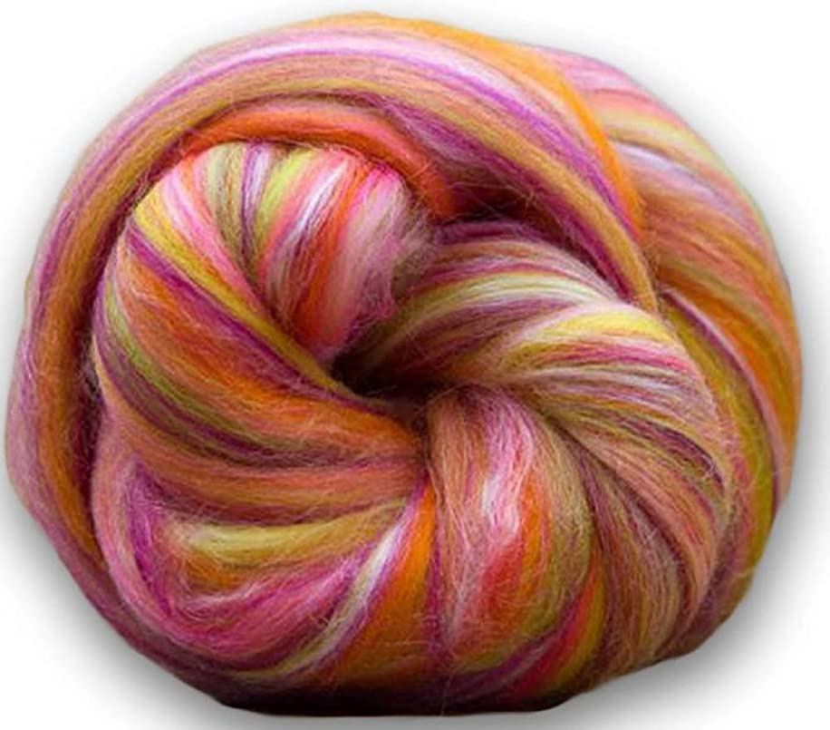 4 oz Paradise Fibers Soft & Silky Constellation Range Libra - 70% 23 Micron Solid Color Merino Wool and 30% Bleached Tussah Silk Blend