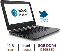 HP ProBook 11.6'' HD Touchscreen Laptop PC, Intel Pentium 4405U Processor, WiFi, Webcam, Bluetooth 4.2, Spill-Resistant Keyboard, 8GB DDR4 RAM, 128GB SSD, Windows 10 Pro