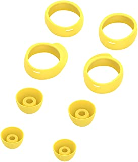 XIHAMA for Samsung Galaxy Buds Ear Tips 8pcs, Comfortable Silicone Noise Cancelling Replacement Earbuds Cover Galaxy Earphone Protector (Yellow)