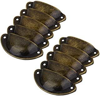In Style; Set Of 6 Brass Vintage Handles Hardware Fashionable
