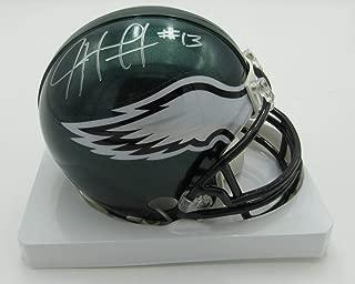 Josh Huff Eagles Autographed/Signed Riddell Mini Helmet PASS 142355