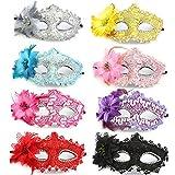 NFACE Half Masquerades Venezianische Masken Kostüme Partyzubehör (8er Pack)