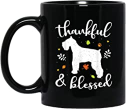 Standard Schnauzer Thanksgiving Thankful Blessed Mom Gift 11 oz. Black Mug