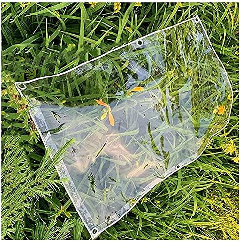 N\A LIJINBO Lona Transparente, Pantalla De Plástico Transparente De PVC, Cubierta Versátil Impermeable, para Cortinas De Toldo De Plataforma De Patio, Personalizable (Color : Clear, Size : 2.4x9m)