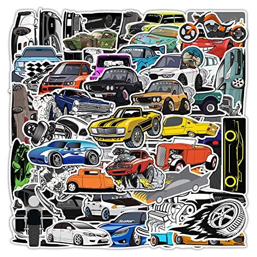 DONGJI Racing personality graffiti suitcase refrigerator helmet battery car laptop waterproof stickers 61pcs