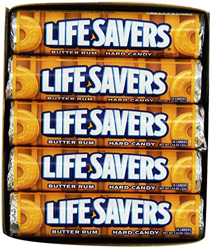 Life Savers Butter Rum Hard Candy, 1.14 ounce (20 Single Packs)