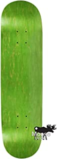 Moose Skateboards BLANK SKATEBOARD DECK - STAINED GREEN - 8.25