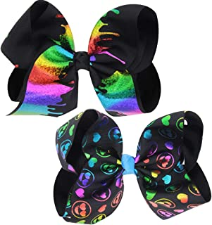 8 Inch Huge Large Hair Bows, Glitter Bow with Alligator Hair Clip Very Cute Beautiful Girls Bows