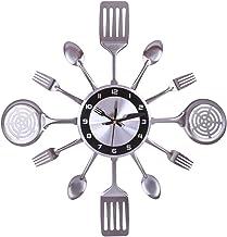 Pendule Murales pour Cuisines Restaurants 41.5CM Batop Horloge Murale Cuisine de Couverts Cuill/ère Fourchette Caf/és