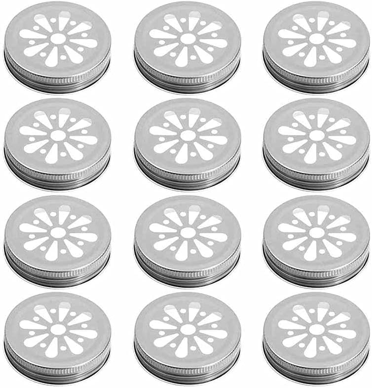 HAHFKJ Mason shop Jar Lids Regular Mouth free shipping Pcs with 12