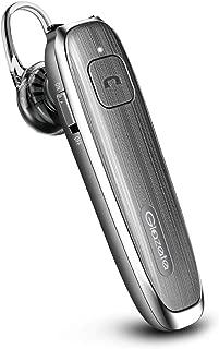 Glazata Bluetooth 日本語音声ヘッドセット V4.1 片耳 高音質 ,超大容量バッテリー、長持ちイヤホン、30時間通話可能,CSRチップ搭載 、マイク内蔵 ハンズフリー通話,日本技適マーク取得品,Scms-t,ガラケー、iOS, android, Windows対応 E30 (グレー)