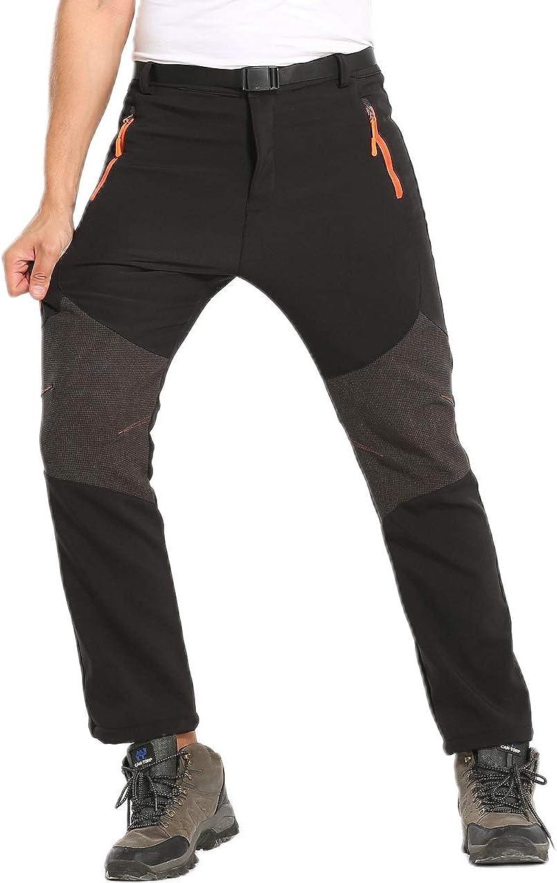 HTB Men's Outdoor Softshell Now on sale Fleece Lined Pants Sale price Cargo Zi 4 Hiking