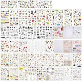 Haosell - 48 fogli di adesivi decorativi per album di ritagli, taccuino, calendario, adesivi, diario, album fotografico, decorazione