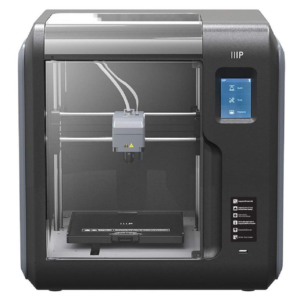 Monoprice Voxel 3D Printer - Black/Gray with Removable Heated Build Plate (150 x 150 x 150 mm) Fully Enclosed, Touch Screen, 8Gb and Wi-Fi, Large (133820)