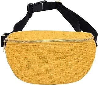 TOOGOO Solid Waist Bags Zipper Women Beach Leisure Pockets Fashion Diagonal Shoulder Chest Women Bag Yellow