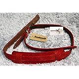 KusaKusa88 KK-SIS-35 strap RED DAMAGE LEATHER 本革ギターストラップ ダメージレザー 便利なDr.Hook 付属