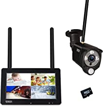 """Tonton 1080P Portable Wireless LCD Security Camera System with 7"""" IPS Touchscreen Monitor, 4CH NVR Kit and 2.0MP 2-Way Aud..."""