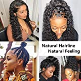 Huamn Hair Wigs For Black Women 360 Lace Frontal Wig Water Wave Wet and Wavy Lace Front Wigs with Baby Hair 360 Lace Wigs Human Hair Pre Plucked Brazilian Virgin Hair 22 Inch