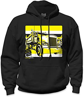 SafetyShirtz Dump Truck Safety Hoody Black/ Yellow
