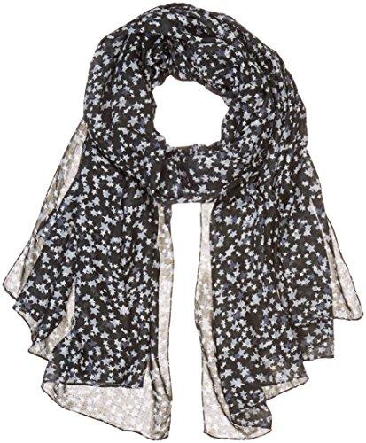 Liebeskind Damen H1179540 Halstuch, Mehrfarbig (Black Multi Stars Print F 99C4), One Size
