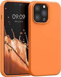 kwmobile telefoonhoesje compatibel met Apple iPhone 13 Pro - Hoesje met siliconen coating - Smartphone case in Cosmic Orange