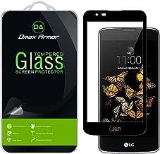 Dmax Armor for LG Escape 3 / LG Treasure LTE/LG Phoenix 2 [Tempered Glass] Screen Protector, (Full Screen Coverage) (Black)