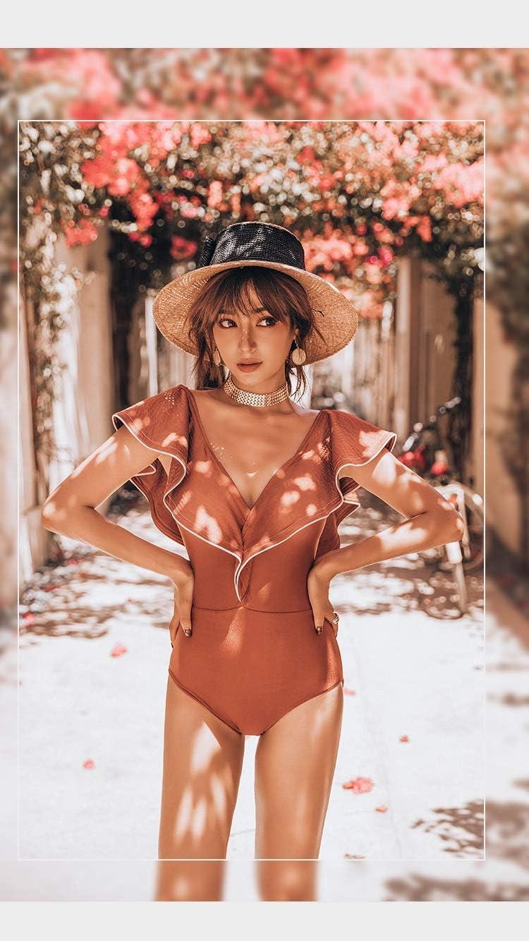 UXZDX CUJUX Windsurfing Bikini Surf Swim Wear Maillot 1 Piece Femme Korean Swimwear Women Swimsuit Fan Ins Sexy Collection Flying Long (Size : X-Large)