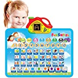 Funshpiel Electronic Talking Board with Letter Sounds, Shapes, and Numbers for Toddlers - Kids...