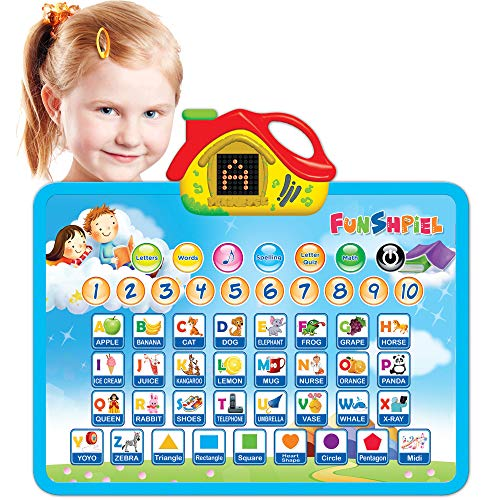 Fun Sound Board - Learning Toy for Boys and Girls 3 Years Old & Up – Electronic ABC Educational Toy - Best Toddler Toy for Pre-School Kids – Learn Letters, Numbers, Math, Shapes, Spelling, Games.