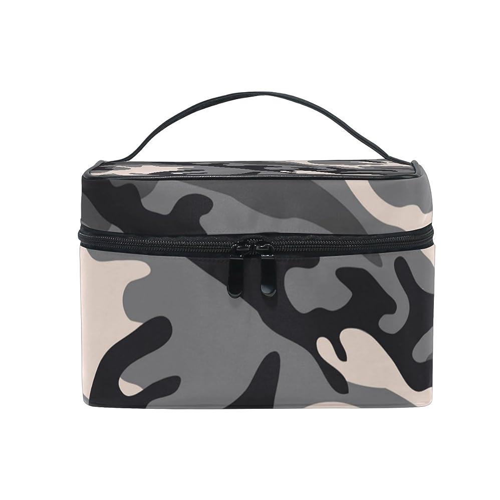 剛性ラオス人グリースALAZA 化粧ポーチ 迷彩柄 化粧 メイクボックス 収納用品 ブラック 大きめ かわいい
