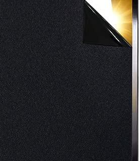 Qualsen Blackout Window Film Privacy Window Film Sun-Light Control Window clings Light Blocking Window Tint Non Adhesive Window Matte Black Decorative Film (17.4 x 78.7 inch)
