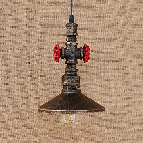 Akelizeng Industrieller alte schmiedeeiserne Kronleuchter einziger Kopf der kreativen Dampfpunkmetallrohre Decke dekoriertes Restaurant Cafe Bar Küche,Copper