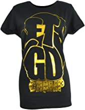 Shannon Briggs The Cannon Lets Go Champ Black Gold Foil Tshirt Tee Womens XLarge